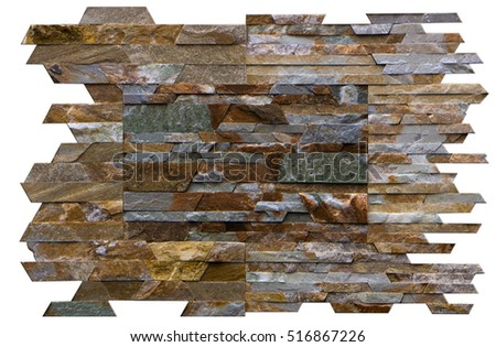 wall of natural stone, travertine, marble, slate, sandstone. background close-up