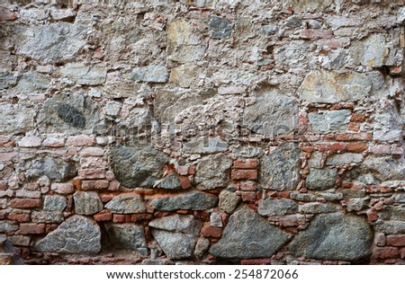 wall of stones as a texture - stock photo