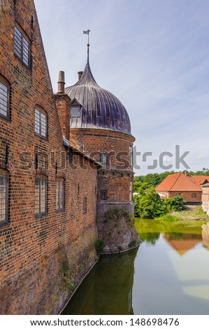 Wall of the Frederiksborg Castle - stock photo
