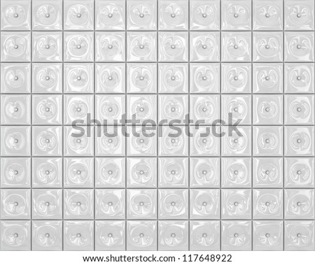 Wall of white tiles