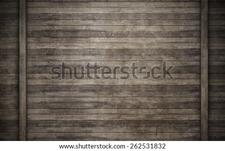 Wall of wooden planks background - stock photo