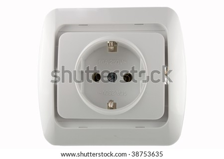 Wall outlet - stock photo
