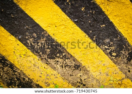 Wall Painted Yellow Black Stripe Old Stock Photo (Download Now ...