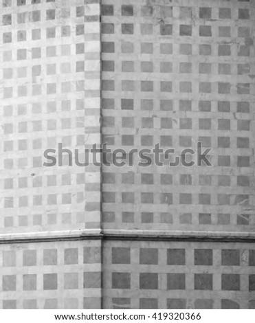 Wall pattern at the Basilica di Santa Chiara, Assisi, Italy - stock photo