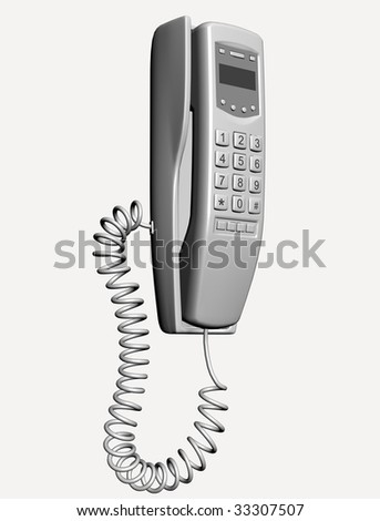 wall phone - stock photo