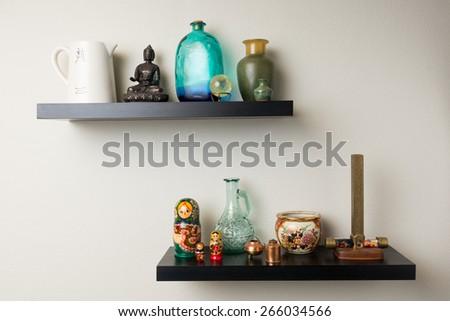 Wall shelves - stock photo
