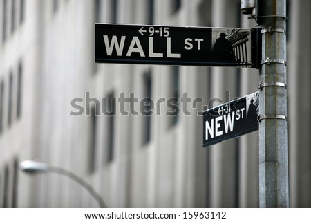 wall st - stock photo