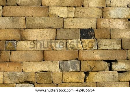 Wall stone - stock photo