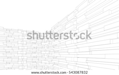 wall, stone, block,architecture abstract, 3d illustration