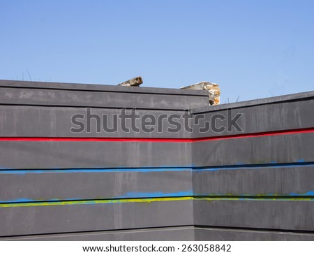 Wall Street and the city background color - stock photo