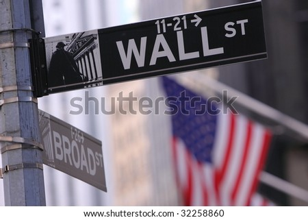 Wall Street in New York - stock photo