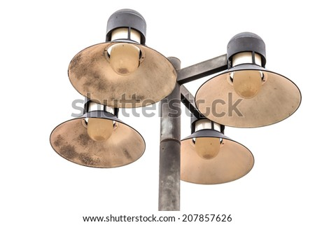 Wall Street lighting isolate in white background - stock photo