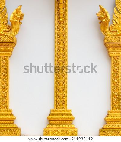 wall stripes thai style - stock photo