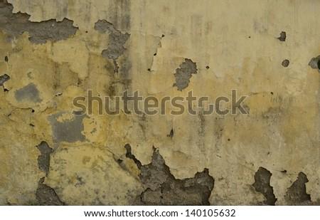 wall that needs repair - stock photo