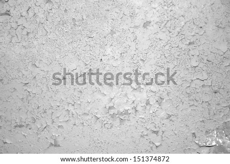 wall with grunge paint chips - stock photo