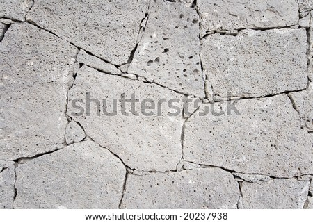 wall with stone textures in grey - stock photo