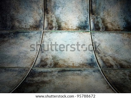 Wall with tiles texture in empty interior - stock photo