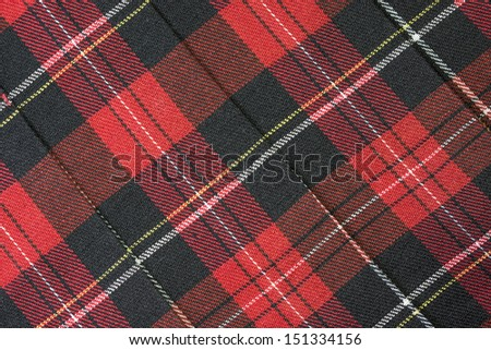Wallace tartan Scottish plaid Background - stock photo