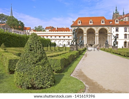 Wallenstein garden. Prague, Czech republic