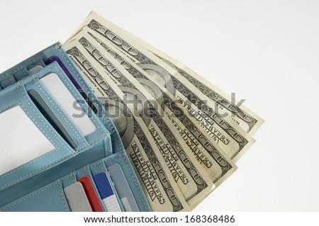 Wallet Full of Money - stock photo
