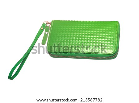 Wallet green on white.