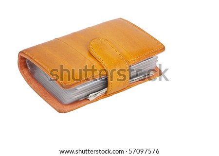 Wallet on white - stock photo