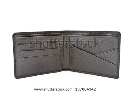 wallet on white isolated - stock photo