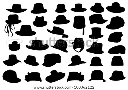 Wallets collection silhouette  illustration isolated on white background. - stock photo