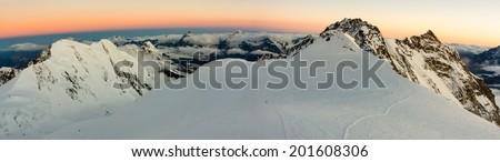 Wallis Alps panorama - stock photo