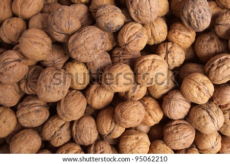wallnuts - stock photo