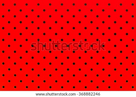 wallpaper black dots in red background pattern - stock photo