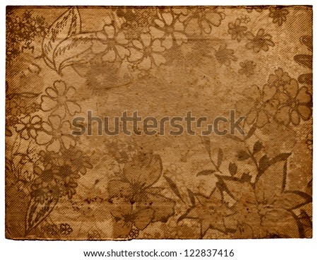 Wallpaper floral - stock photo