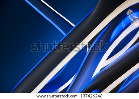 wallpaper from the high tech lighting abstraction - stock photo