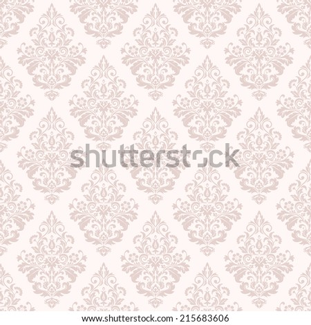 Wallpaper in the style of Baroque. A seamless  background. Floral pattern.