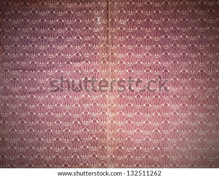 Wallpaper pattern, old vintage paper texture - stock photo
