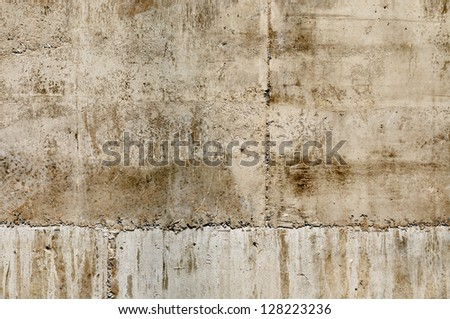 Wallpaper texture of brown exposed concrete wall. - stock photo