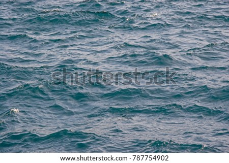 Wallpaper water - lake surface in blue with light waves