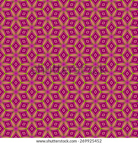 Wallpaper with abstract motif like a kaleidoscope