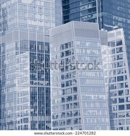 Walls of the buildings in the business city center. - stock photo