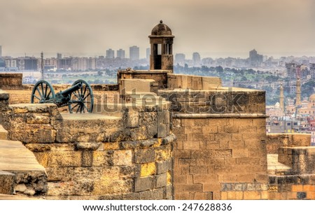 Walls of the Saladin Citadel of Cairo - Egypt - stock photo
