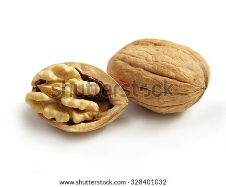 Walnut isolated on white background - stock photo
