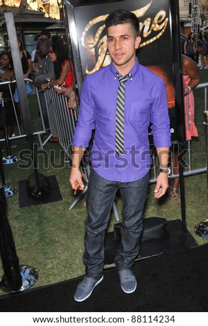 "Walter Perez at the Los Angeles premiere of his new movie ""Fame"" at The Grove Theatre, Los Angeles. September 23, 2009  Los Angeles, CA Picture: Paul Smith / Featureflash"