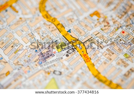 walthamstow central london uk map