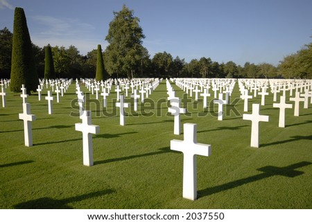 War Graves in Normandy - stock photo