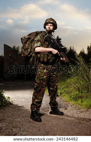 War is his profession - stock photo