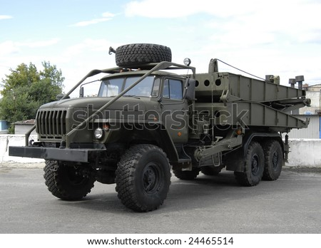 war truck - stock photo