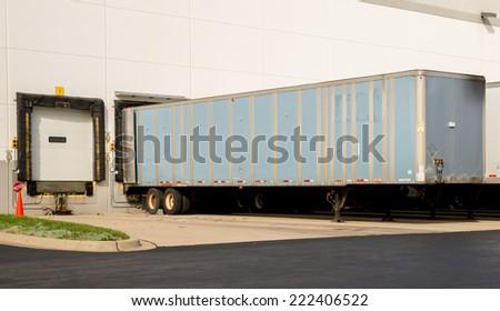 Warehouse and loading docks logistics - stock photo