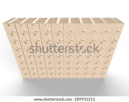 warehouse boxes - stock photo