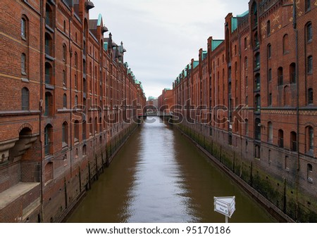 Warehouse district (Speicherstadt) of Hamburg, Germany