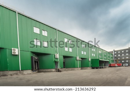warehouse docks  - stock photo